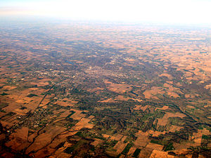 Richmond, Indiana - Richmond lies on the flat lands of eastern Indiana.
