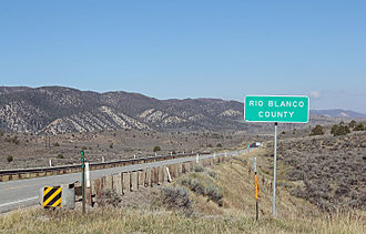 Colorado State Highway 13 - Highway 13 as it enters Rio Blanco County