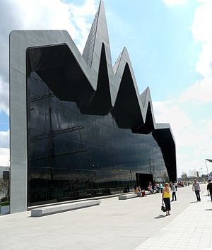 Riverside Museum - Image: Riverside Museum rear view