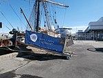 Roald Amundsen gangway Port of Tallinn 14 July 2017.jpg