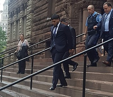 Osuna exits the Old City Hall courthouse in Toronto. Roberto Osuna leaving court.jpg
