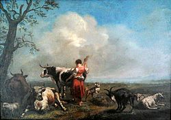 Giovanni Rocca: Landscape with cattle