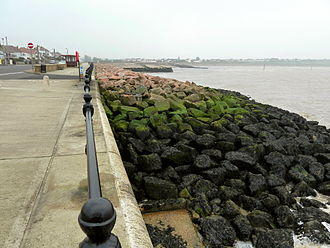 Revetment - Image: Rock armour revetment Hampton on Sea
