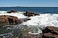 Rocky shore & waves (next to Thunder Hole, Mt. Desert Island, Maine, USA) 26.jpg