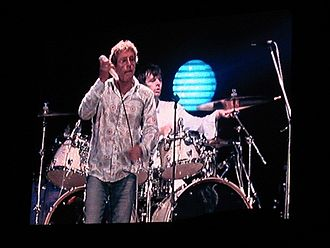 Zak Starkey - Starkey with Roger Daltrey of The Who in concert