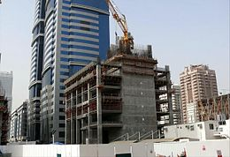 Rolex Tower Under Construction on 7 March 2008.jpg