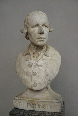 Roman Anton Boos - Self-portrait bust (1790), intended for his grave: now in the Bayerisches Nationalmuseum