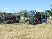 Romanian NBC vehicle decontamination