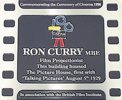 Photo of Ron Curry and The Picture House, Doncaster film cell plaque