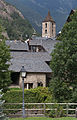 Roofs of Ordino and bell tower of Saint Corneli and Saint Cebrià d'Ordino. Andorra 218.jpg