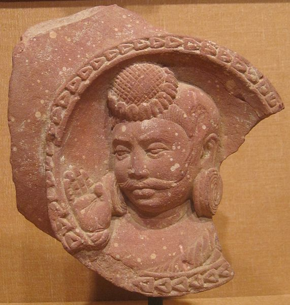 File:Roundel with the head of a nobleman, India, Mathura, Uttar Pradesh, c. 1st-2nd century CE, pink sandstone, HAA.JPG