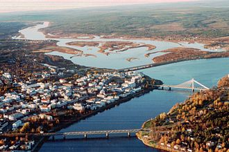 Rovaniemi - Rovaniemi from air, October 1999