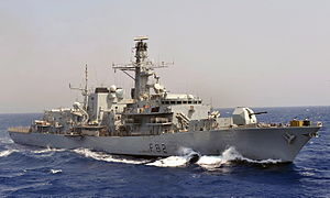 HMS Somerset (F82) - Image: Royal Navy Type 23 Frigate HMS Somerset MOD 45153155