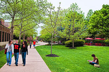 English: photo of rutgers camden campus walkin...