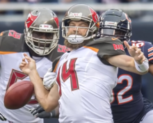 Fitzpatrick with the Tampa Bay Buccaneers in 2018