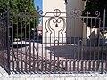 Sársziget Street Church, fence and bicycle racks, 2020 Sárvár.jpg