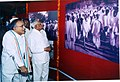 "S. Jaipal Reddy going round a photo exhibition entitled "" Dandi March"" to commemorate 75th anniversary of the historic march, being organised by Directorate of Advertising & Visual Publicity.jpg"