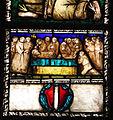 S.m. maddalena de' pazzi, int., vetrata con stimmate di san francesco e stemma pepi, 1500-1510 ca. 04.JPG