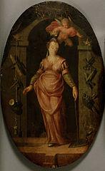 De heilige Barbara, schutterspatrones van het Metselaarsgilde