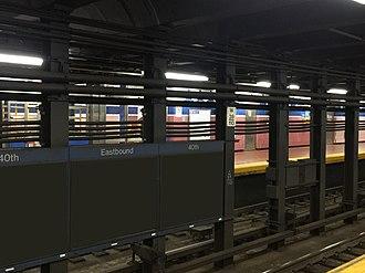 40th Street station (Market–Frankford Line) - Image: SEPTA40th Street Station Platform Sign 2017