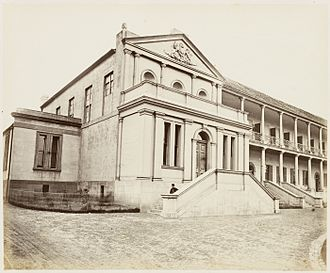 Parliament House, Sydney - Legislative Assembly Chamber Exterior in 1872