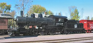Brooks Locomotive Works - Brooks s/n 3687, Soo Line 2645 preserved at the Mid-Continent Railway Museum, North Freedom, WI.
