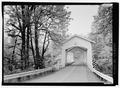 SOUTH PORTAL LOOKING NORTH - Short Bridge, Spanning South Santiam River at High Deck Road, Cascadia, Linn County, OR HAER OR-120-2.tif