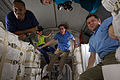 STS-133 ISS-26 crew members in the newly-installed PMM.jpg