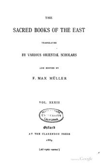 Sacred Books of the East - Volume 33.djvu