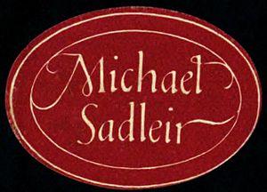 Michael Sadleir - Michael Sadleir book sticker