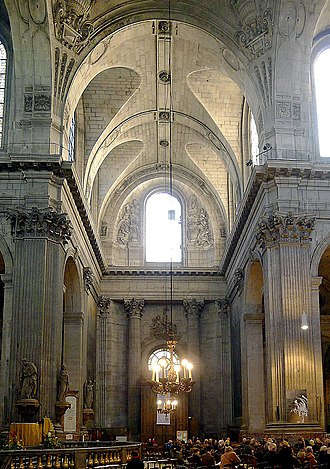 Church of Saint-Sulpice, Paris - South transept with portal designed by Gilles-Marie Oppenord in 1723