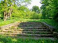 Saint-Witz (95), escalier d'accès à la chapelle néo-gothique démolie.jpg