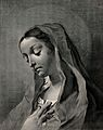 Saint Mary (the Blessed Virgin). Line engraving by M. Pitter Wellcome V0033651.jpg