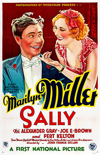Sally (1929 film) - theatrical release poster