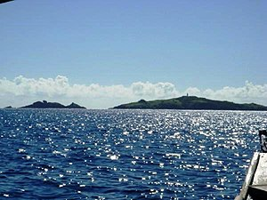 San Bernardino Strait - The strait with the San Bernardino Islands in the distance