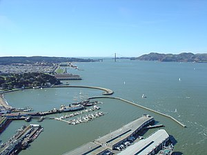 San Francisco Bay, view from helicopter