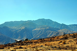 San Jacinto Mountains - San Jacinto mountains as viewed from the north, when approaching the gateway to Palm Springs, California on highway 62