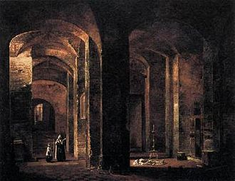 San Martino ai Monti - The Crypt of San Martino ai Monti, by François Marius Granet (1806).