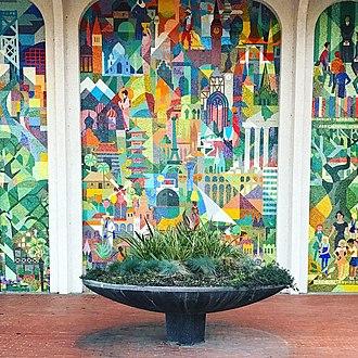 Amadeo Giannini - Image: San Mateo Mosaic Mural from 1963