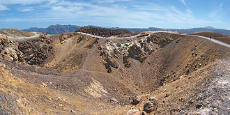 Santorini - Volcanic craters at Santorini (2011 photo)