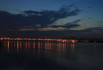 Saraighat - Dusk over Saraighat Bridge