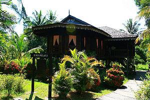 Malay houses - A Sarawakian Malay traditional house in Malaysian Borneo.