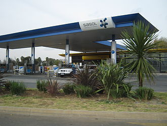 Sasol - A Sasol Garage in Boksburg, close to the company's headquarters in Johannesburg, South Africa.