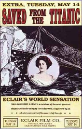 Affiche du film Saved from the Titanic avec Dorothy Gibson.