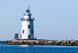 Old Saybrook, Connecticut - Saybrook Breakwater Light