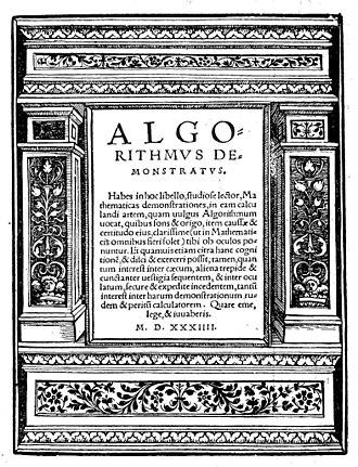 Johannes Schöner - Algorithmus demonstratus, 1534