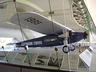 Southern Cross (aircraft) - The Southern Cross inside the Kingsford Smith Memorial