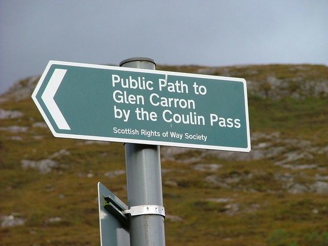 Scottish Rights of Way Society Sign - geograph.org.uk - 249365