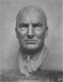 Sculptured head of President Warren G. Harding, by Sally James Farnham 1921.png