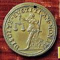 Scuola romana, medaglia di paolo IV, giustizia.JPG